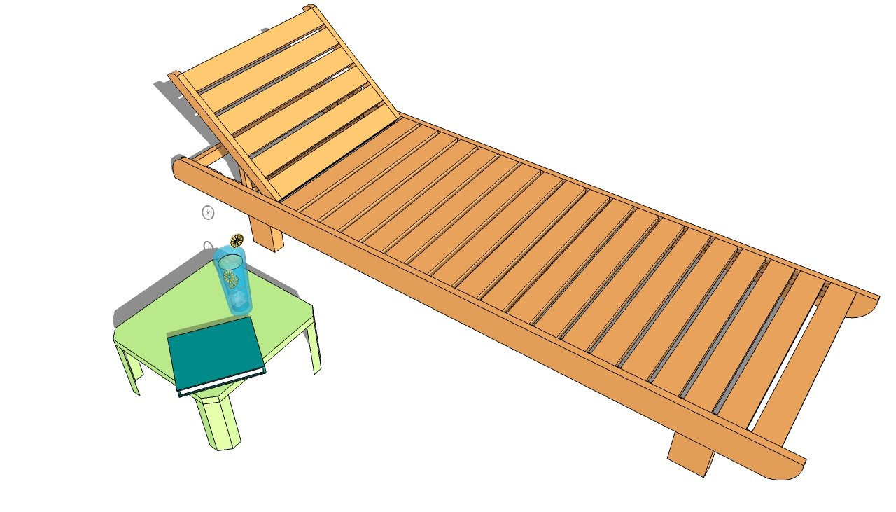 Woodworking plans garden chair loungers