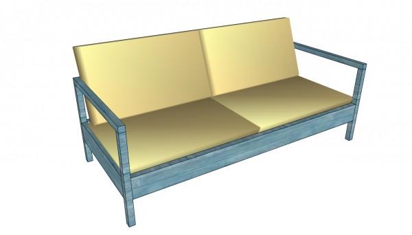 Outdoor sofa plans