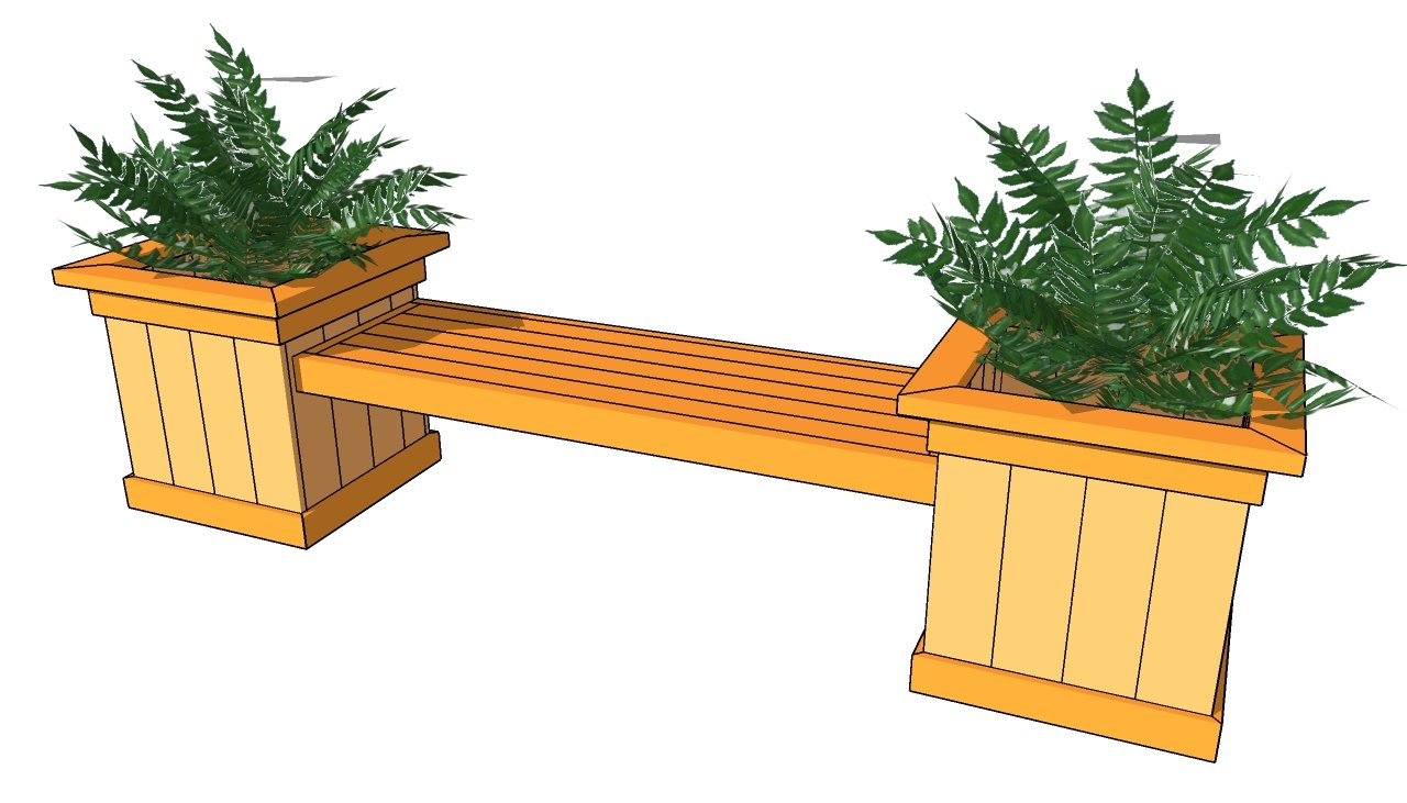 Deck Designs With Benches And Planters Planter bench plans