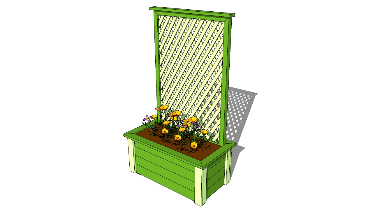 Planter with Trellis Plans
