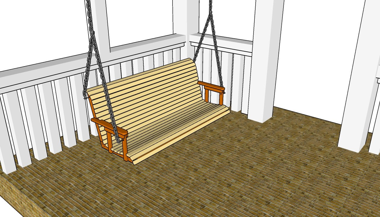 log porch swing plans