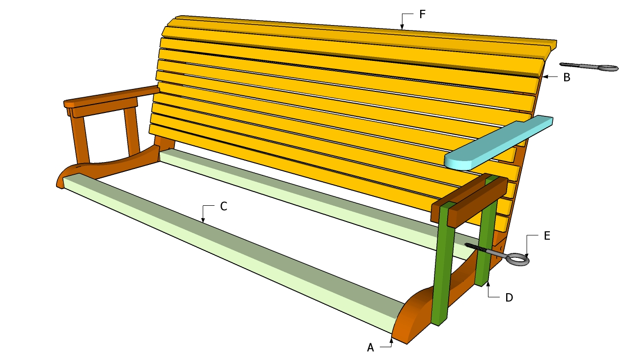 wooden porch swing kits