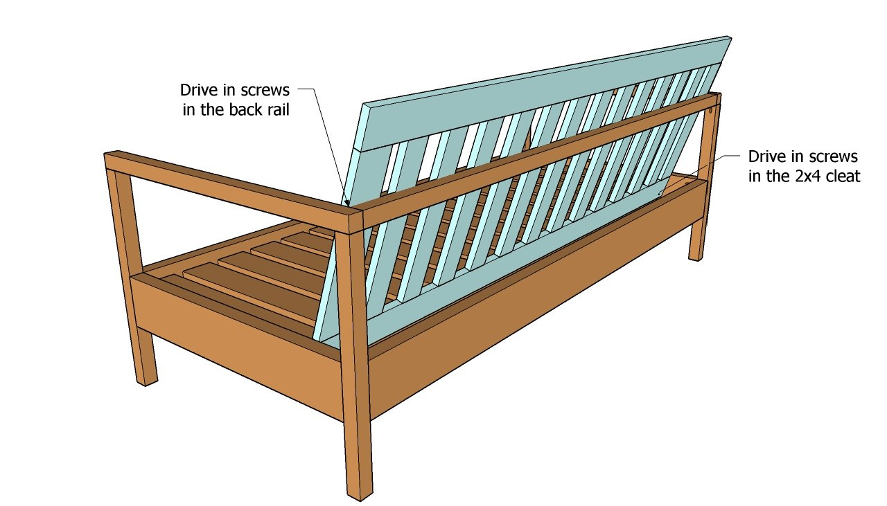 Outdoor Sofa Plans | Free Outdoor Plans - DIY Shed, Wooden Playhouse ...