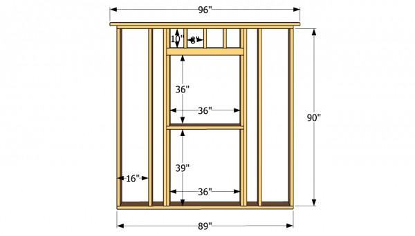 Side wall with window plans