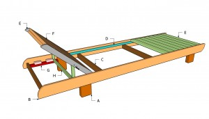 Wood chaise lounge chair plans