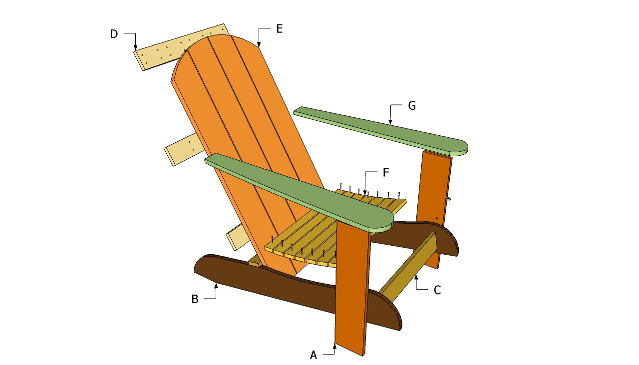 outdoor wood chair plans free | Quick Woodworking Projects