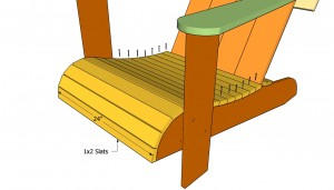 Attaching the seat slats
