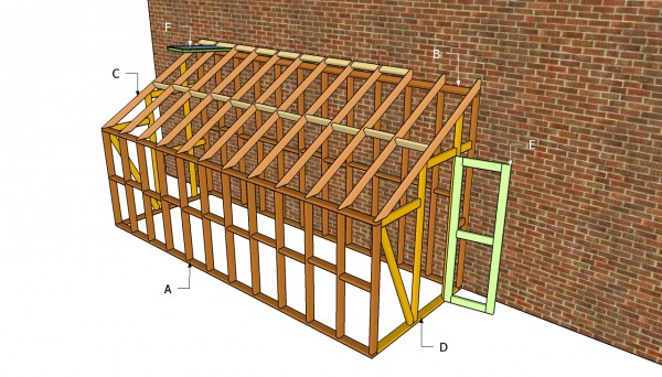 how to build a wooden lean to roof