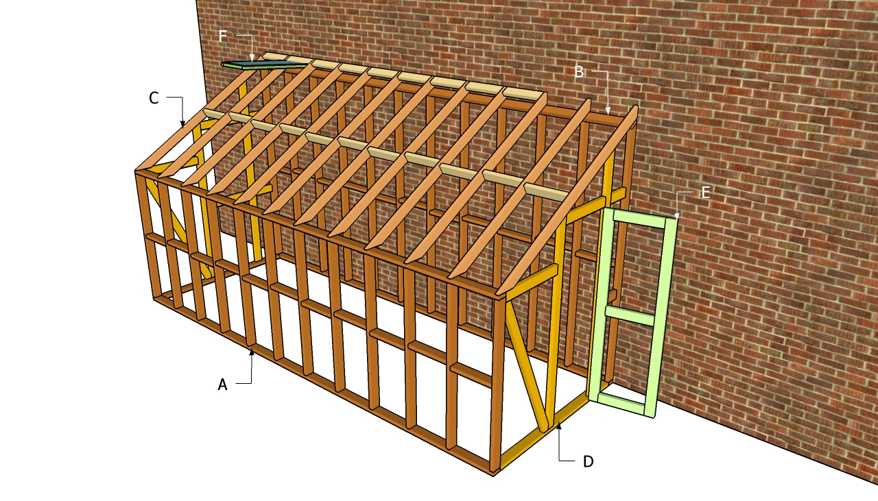 Lean to greenhouse plans free outdoor plans diy shed for Lean to style house plans