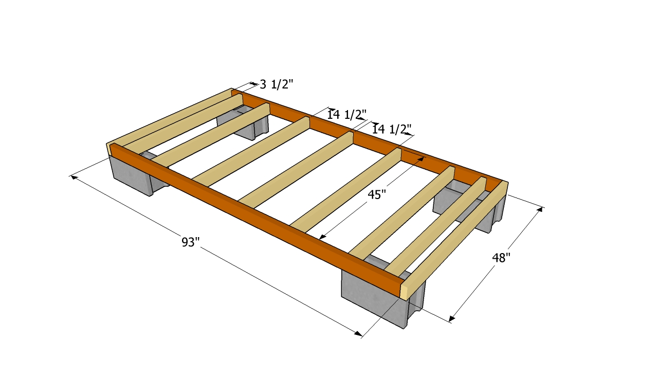 how to build a shed base out of wood | Online Woodworking Plans