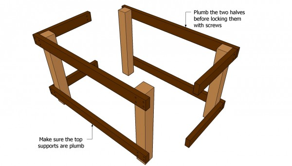 Building the frame of the workbench