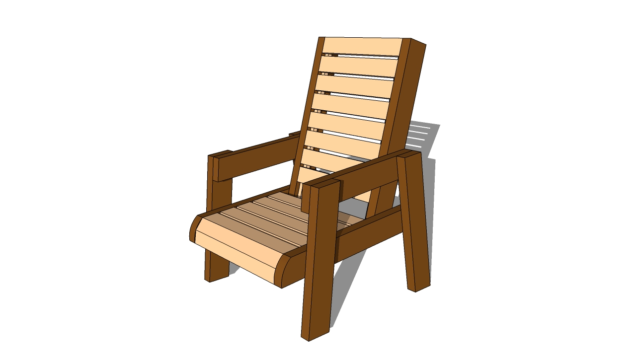 Outdoor Wood Chair Plans ~ Adirondack chair plans free myoutdoorplans