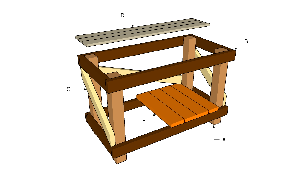 Diy Workbench Plans | MyOutdoorPlans | Free Woodworking Plans and ...
