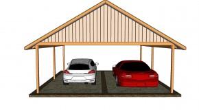 Double carport plans