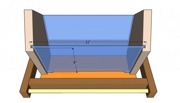 Fitting the plexiglas walls