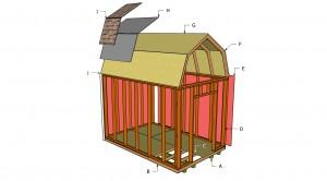 Free gambrel shed plans