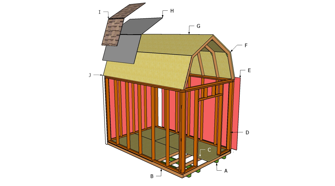 How to build a storage shed plans free quick woodworking for Shed design plans
