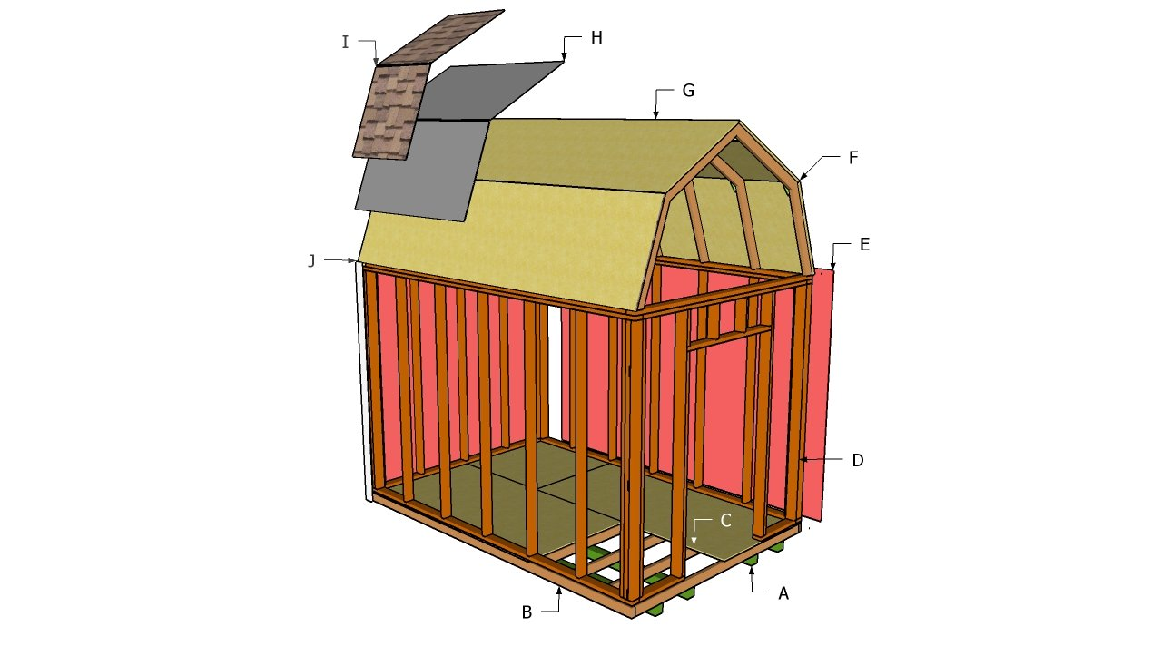 Gambrel Shed Plans | MyOutdoorPlans | Free Woodworking Plans and ...