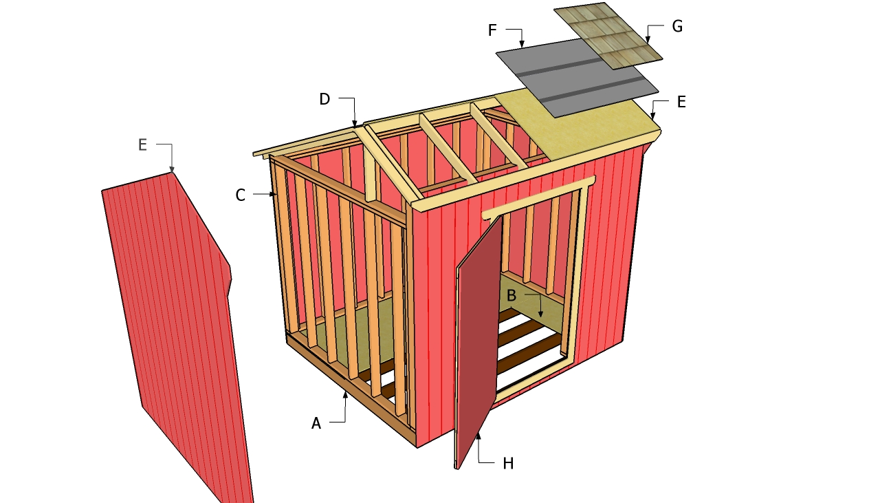 Free saltbox storage shed plans
