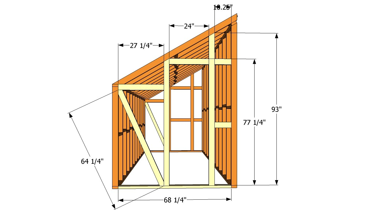 How to build a lean to shed plans free quick woodworking for Free building plans