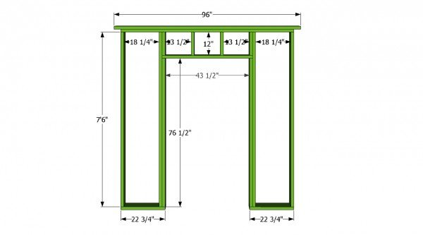 Front wall with door plans