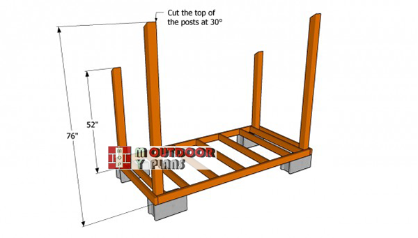 Installing-the-posts-for-woodshed