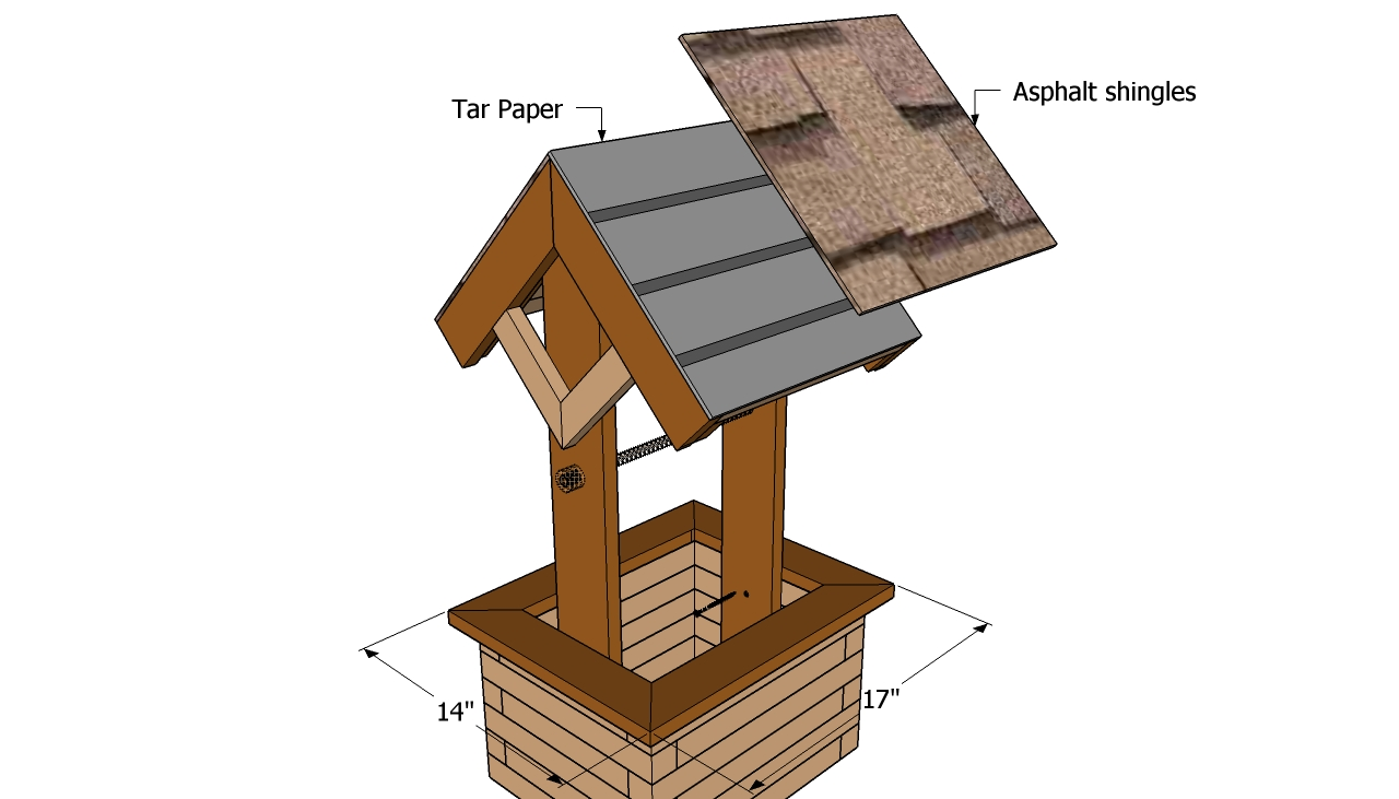 Wishing well planter plans | Free Outdoor Plans - DIY Shed, Wooden ...