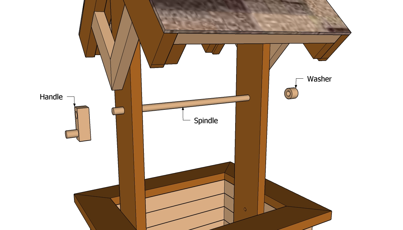 Wishing well planter plans free outdoor plans diy shed for Well shed plans