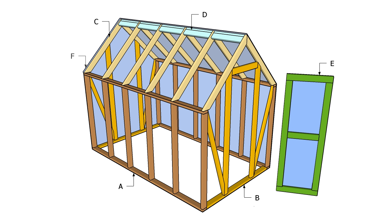 Shed plans 4 x 12 graham plans for Small wooden greenhouse plans