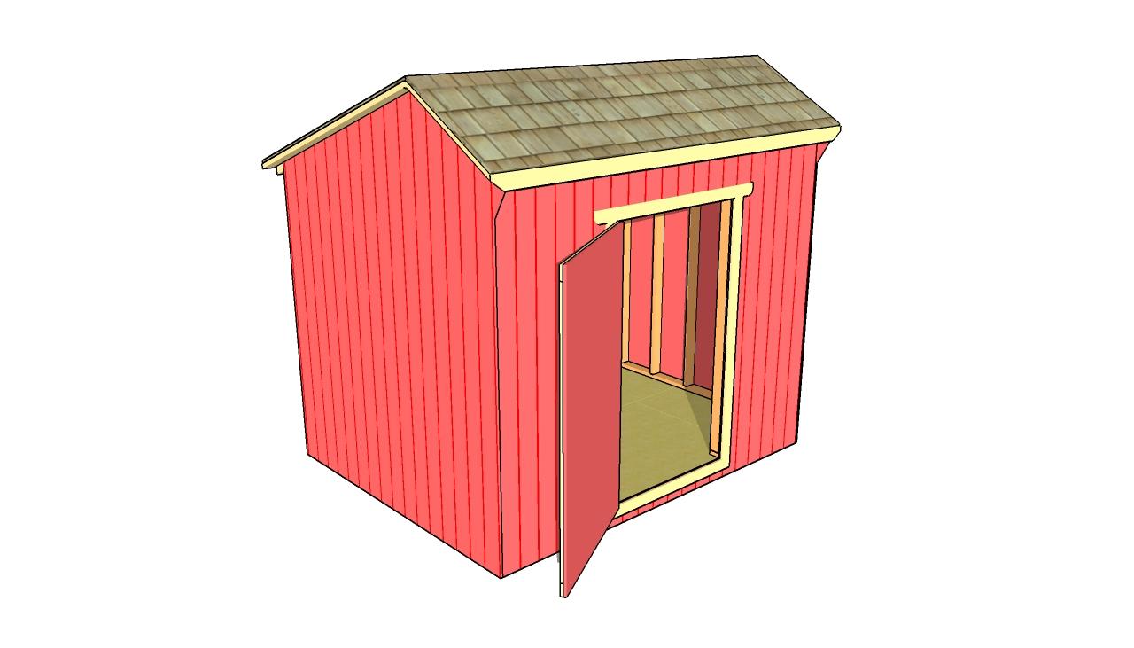 Gambrel shed plans myoutdoorplans free woodworking for Salt box sheds