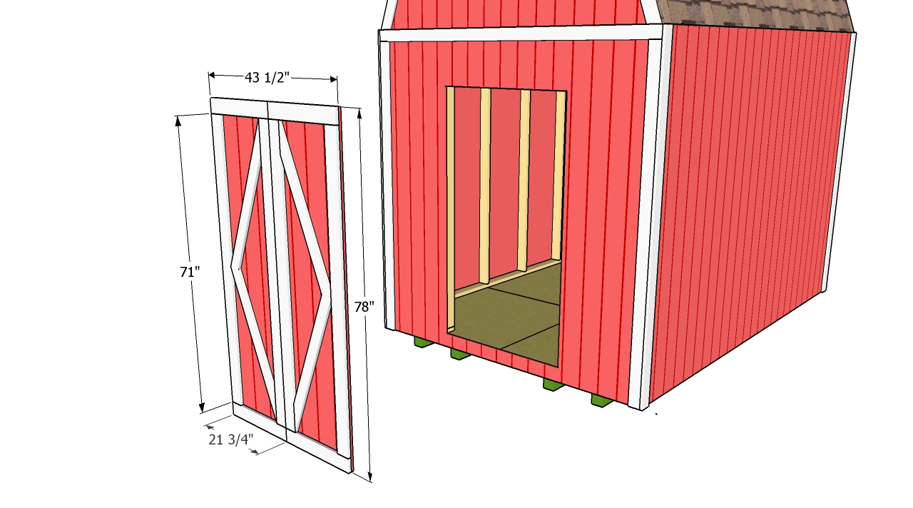 Koras plans for shed door for Double door shed plans