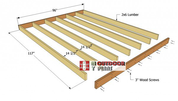 Shed-floor-frame