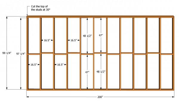 Tall wall plans