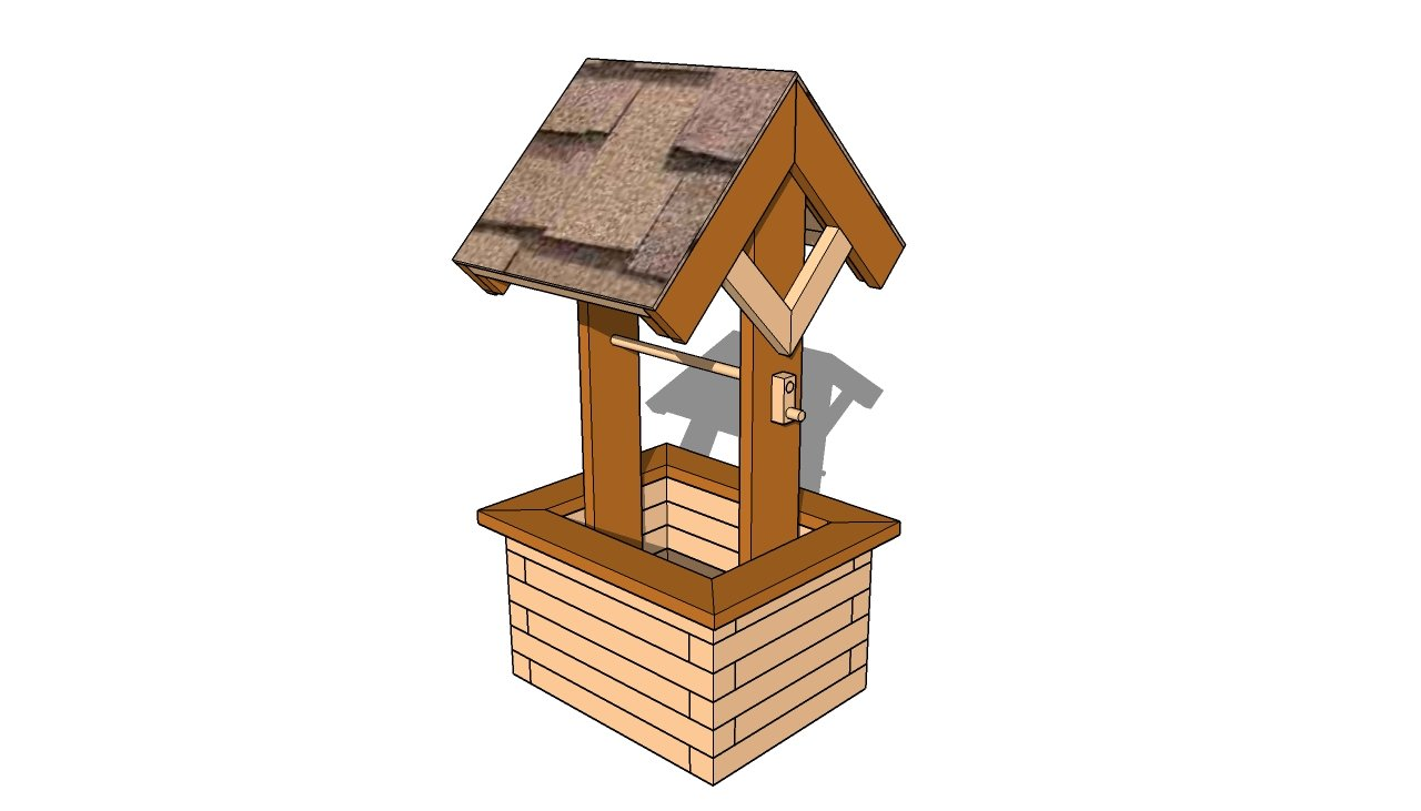 woodworking plans garden wishing well