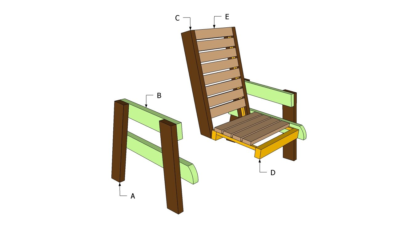 Outdoor Wood Chair Plans ~ Deck chair plans free outdoor diy shed wooden