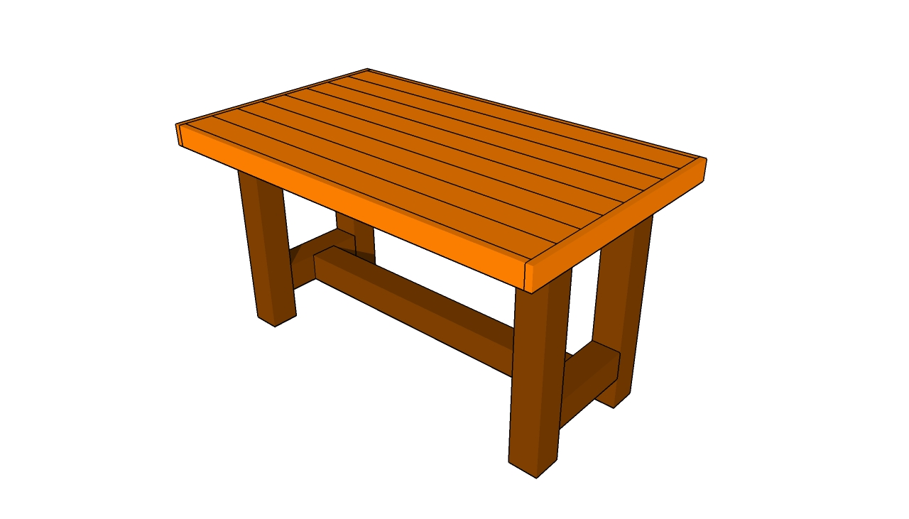 Woodworking Plan: plans for a wood picnic table
