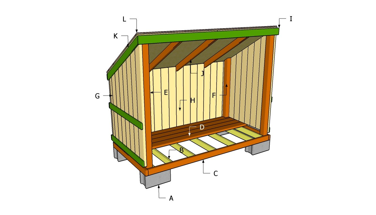 Outdoor firewood shed plans quick woodworking projects for Wood storage building plans