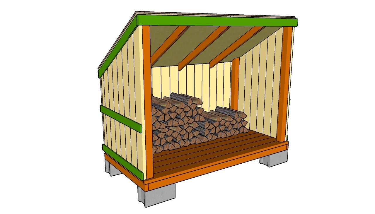 Firewood Storage Shed Plans · Woodshed Plans