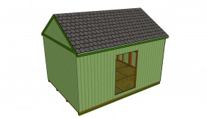 Building a roof shed