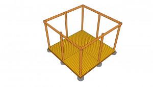 Building a square gazebo