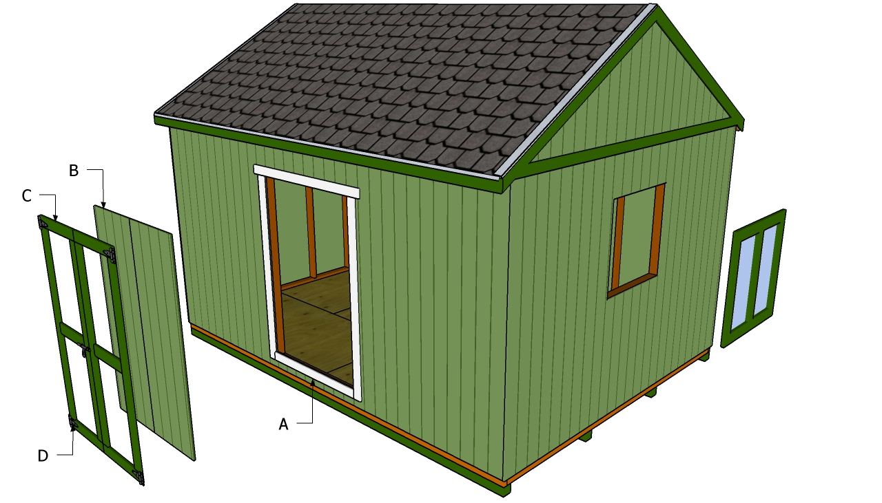 Double shed door plans myoutdoorplans free woodworking for Double door shed plans