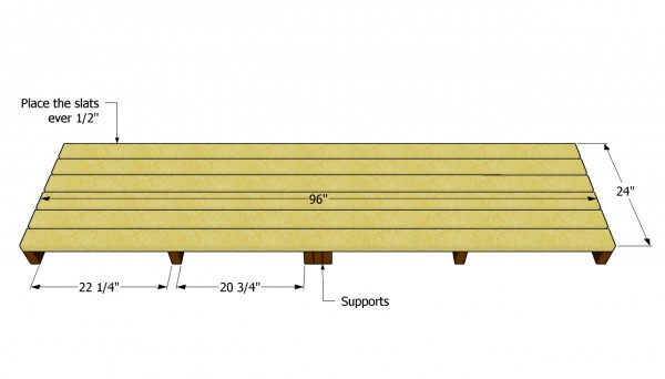 pallet building plans. building the base of pallet shed plans