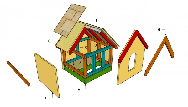 Small Dog House Plans MyOutdoorPlans Free Woodworking Plans