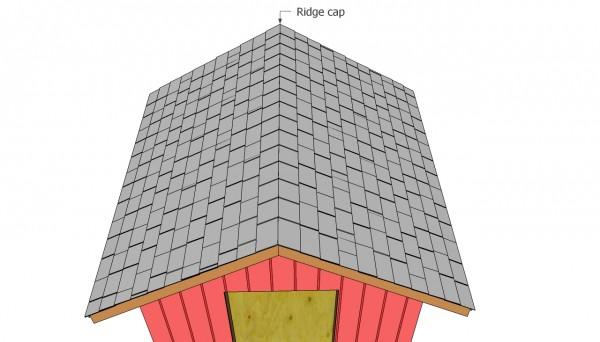 Fitting the ridge caps