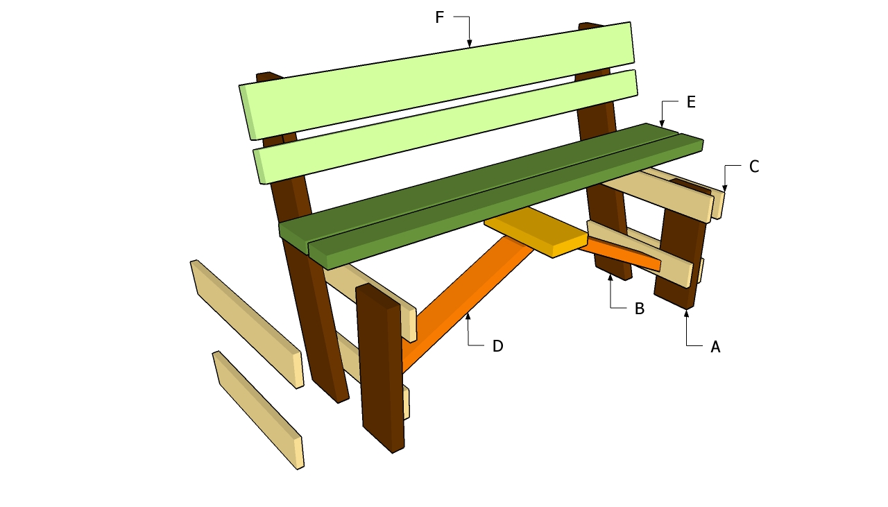 garden bench construction plans