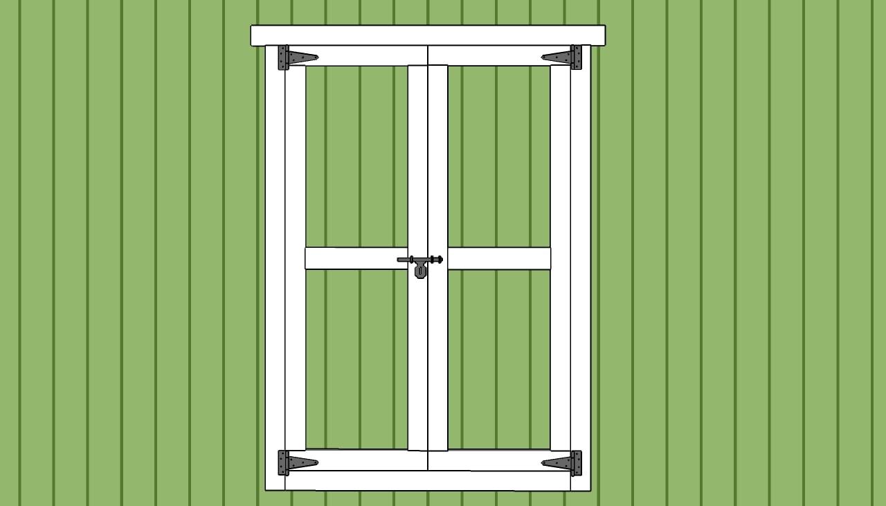 Double Shed Door Plans