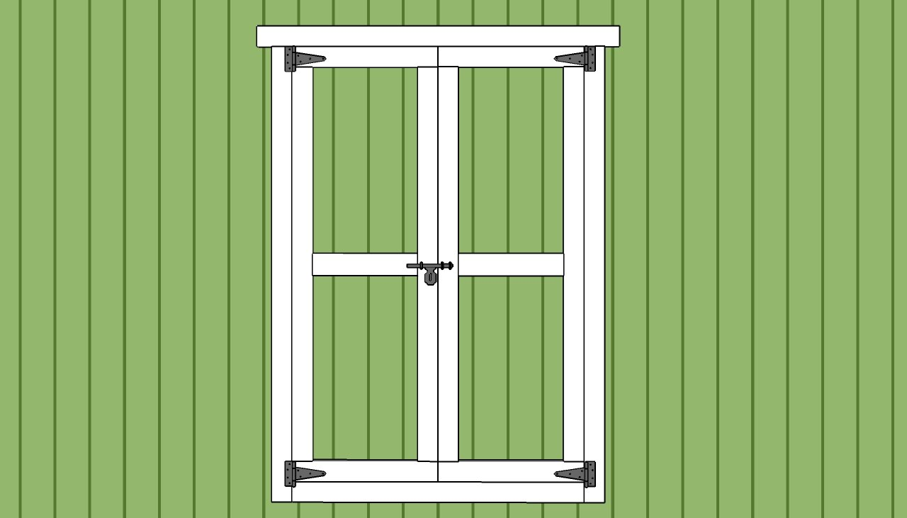 Shed door plans myoutdoorplans free woodworking plans for Double door shed plans