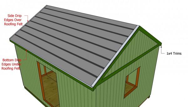 Installing the roofing felt