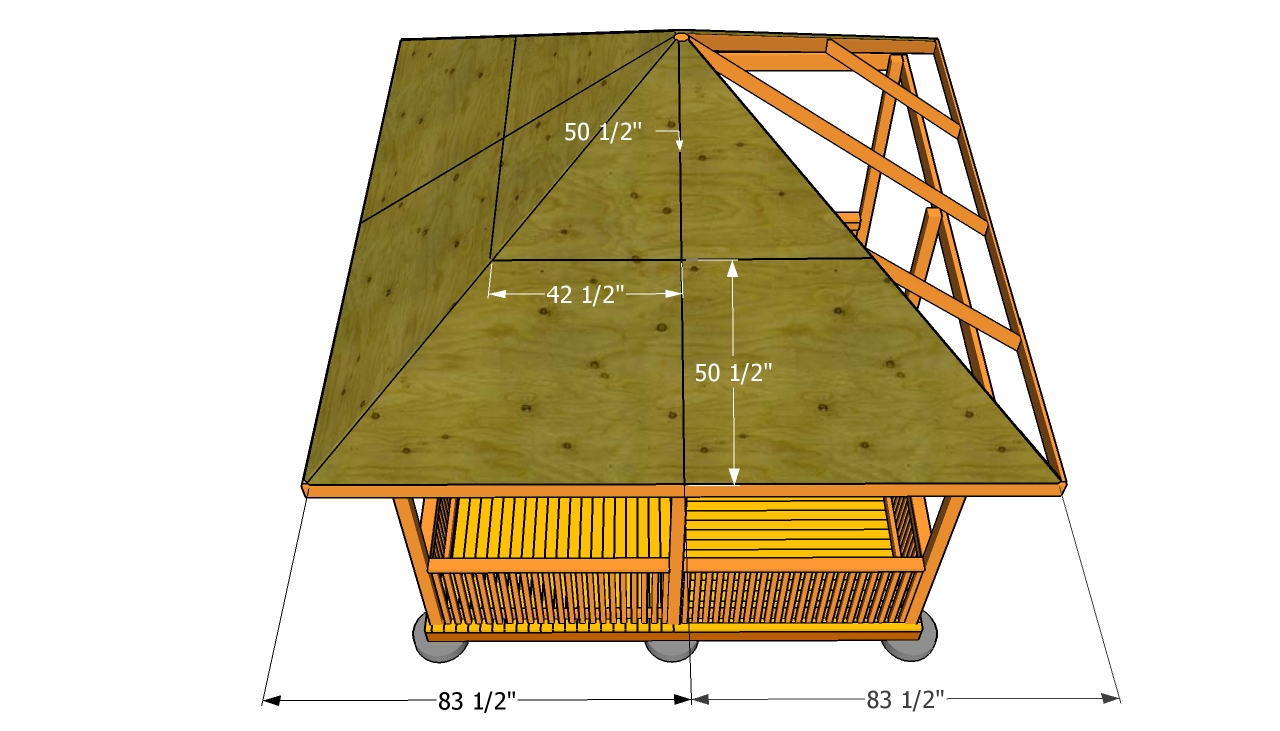 How To Build A Gazebo Roof Myoutdoorplans Free