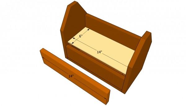 Installing the tool box's shelf